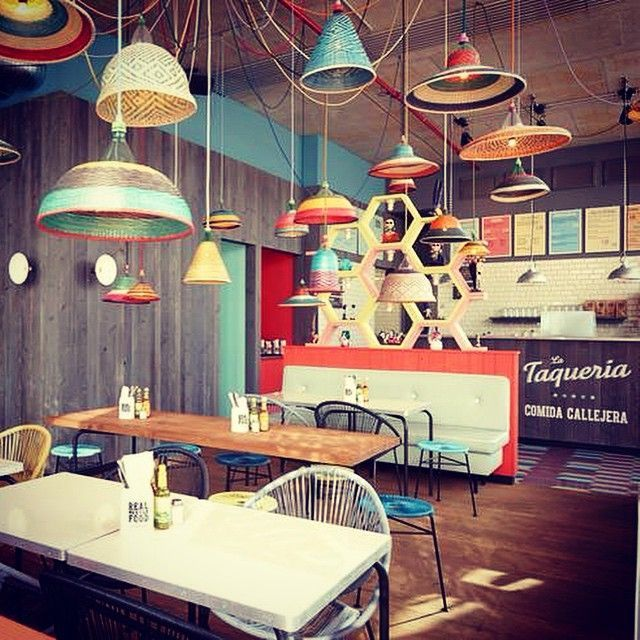 Mexican | Taqueria La Comida callejera | Lamps | business ideas ...