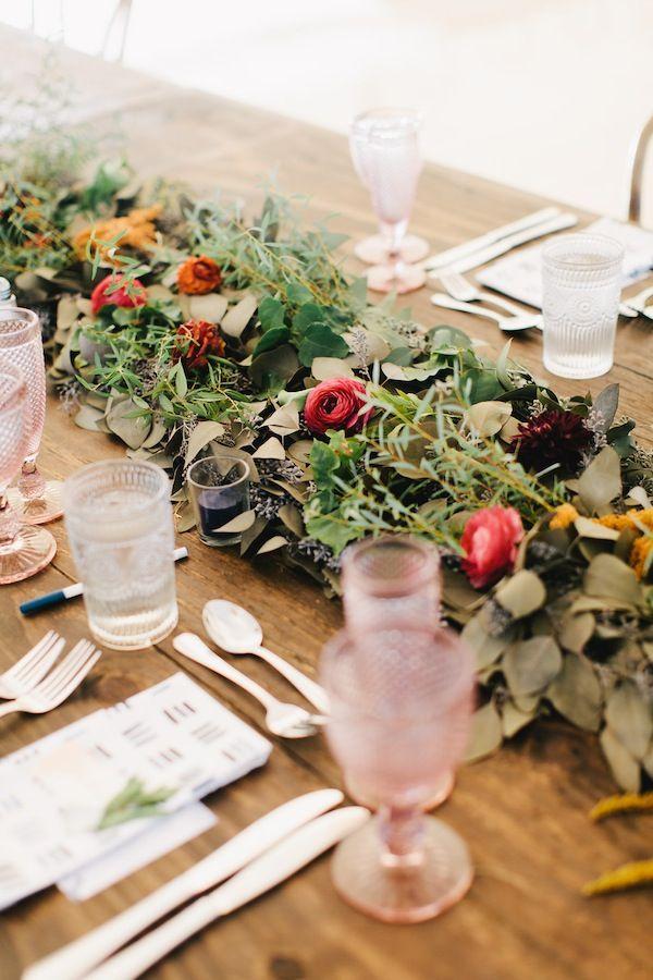 floral runner garland