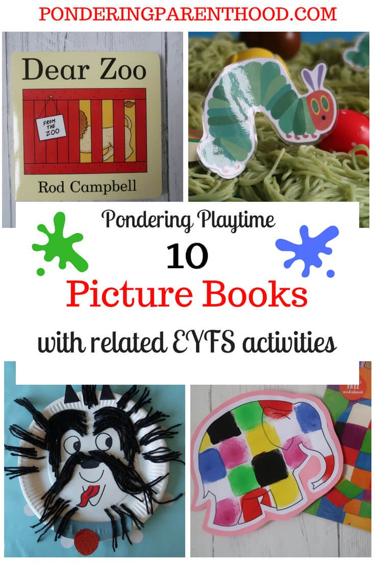 10 books with related eys play learning activities