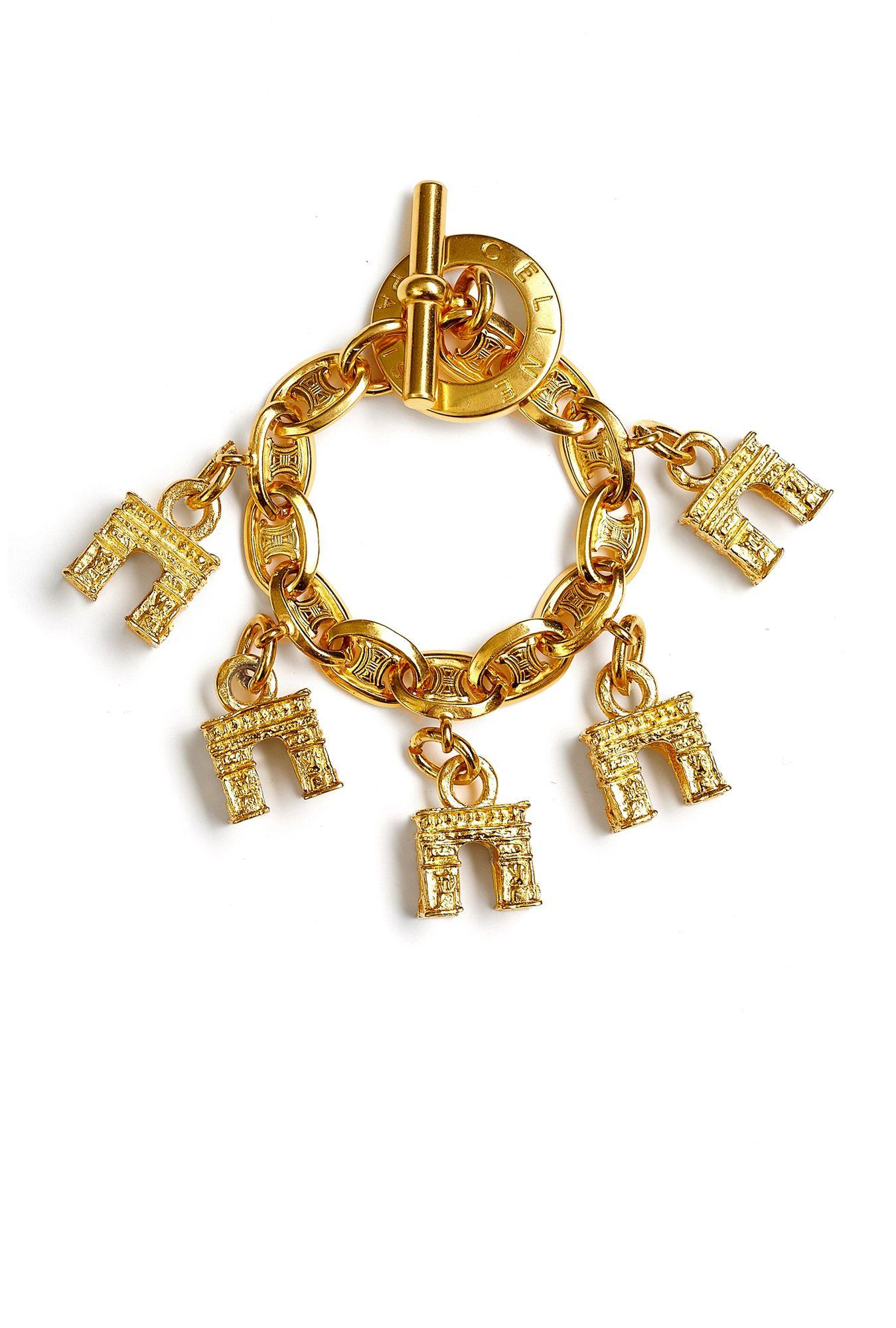 Us vintage celine arc de triomphe bracelet baubles