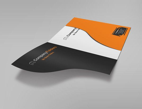 17 free presentation folder mockup psd templates folder. Black Bedroom Furniture Sets. Home Design Ideas