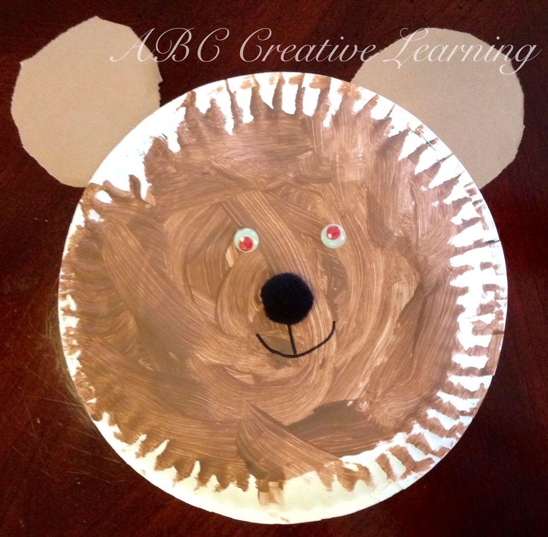 Polar Bear Paper Plate Arctic Craft