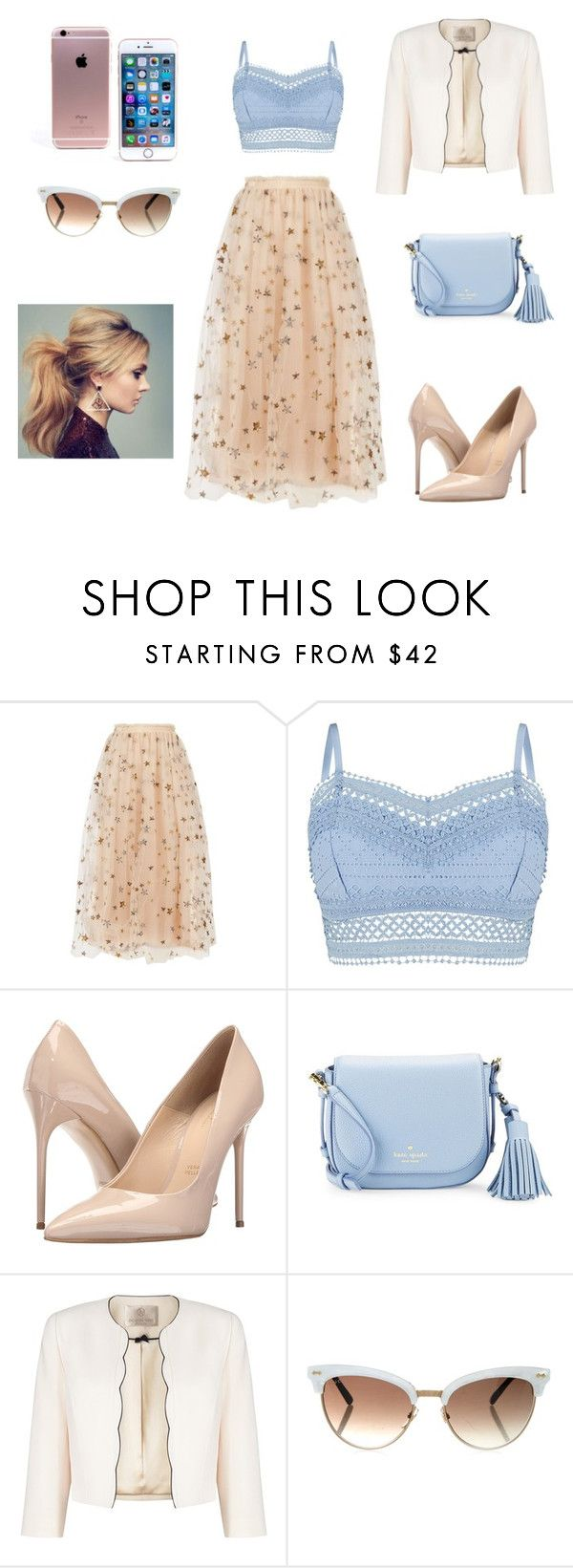 """""""Like a fairy"""" by mari-eleftheriadou ❤ liked on Polyvore featuring Valentino, Lipsy, Massimo Matteo, Kate Spade, Jacques Vert and Gucci"""