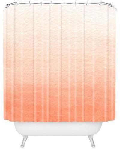 Peach Ombre Shower Curtain