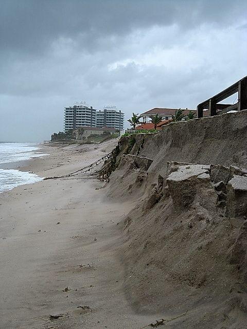 Vero Beach Florida Erosion From Hurricane Sandy