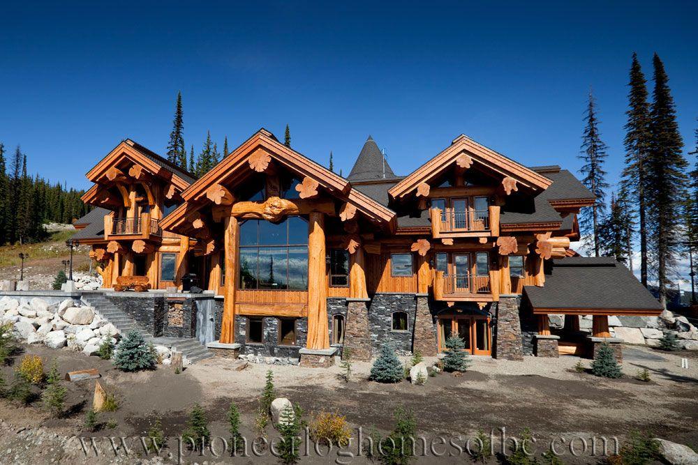 Big White Log Home Custom Built Log Homes Pioneer Log Homes Of Bc Log Homes Mansions Cedar Homes