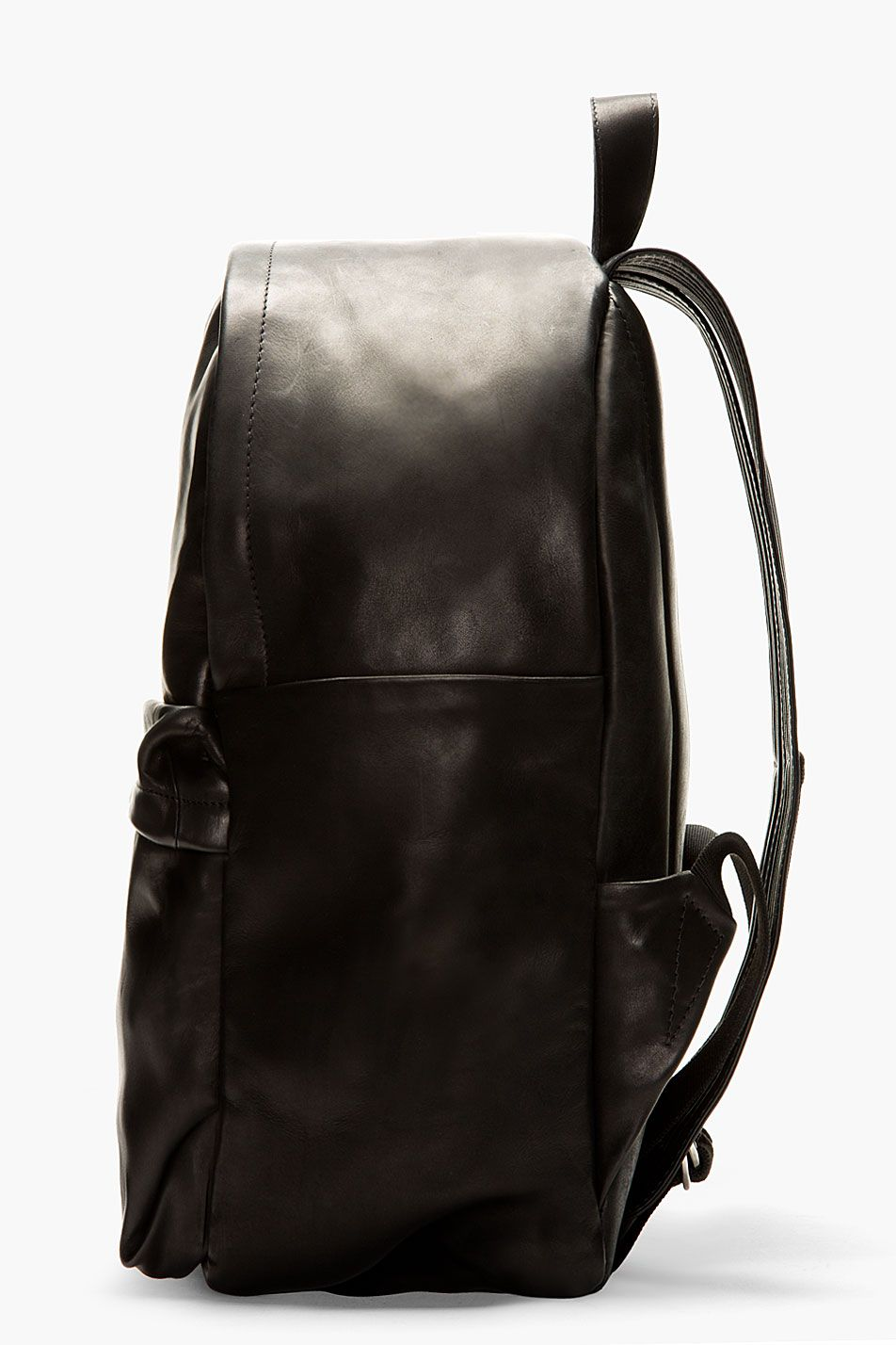 76896f8461 SILENT BY DAMIR DOMA Black Smooth Leather Bay Men Backpack ...