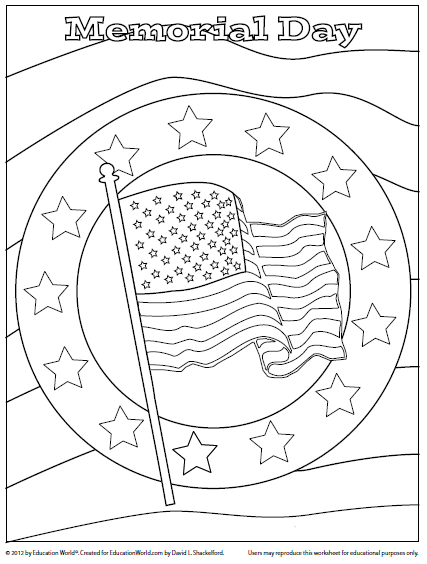 Education World Coloring Sheet Memorial Day Memorial Day Coloring Pages Coloring Pages Memorial Day Activities