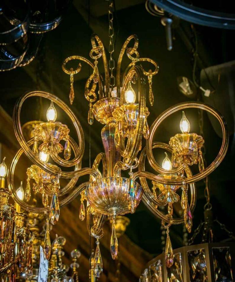 Iluminacion De Candelabro Luz De Techo Lampara Colgante Etsy In 2020 Ceiling Lights Chandelier Ceiling