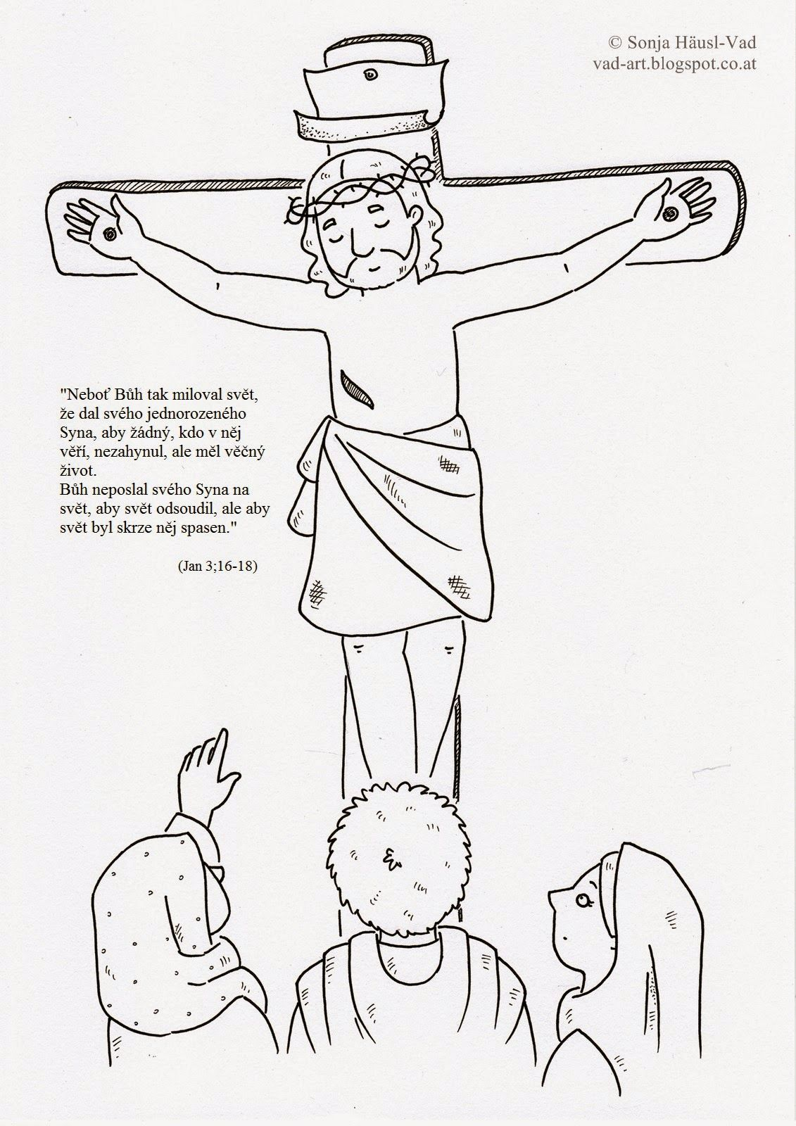 the house of häusl-vad: jesus on the cross | ausmalbilder