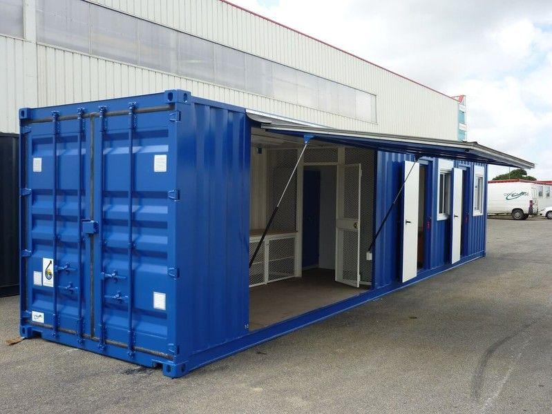 Container 40 pieds bureau atelier am nag klozet - Container amenage ...