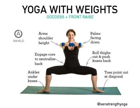 yoga with weights will make you strong long and lean