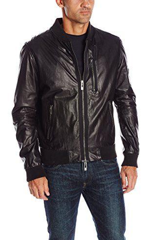 4004f5c92 ROGUE Men's Super Soft New Zealand Lamb Leather Zip Bomber Jacket ...