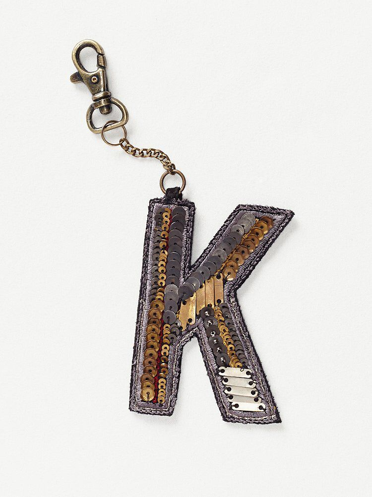 Sequin Letter Bag Charm from Free People!