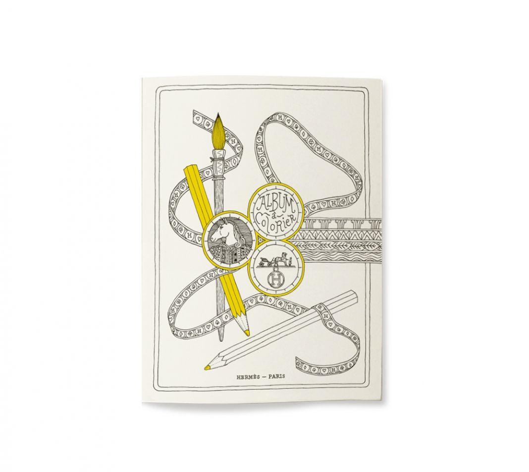 Hermés Les 4 Mondes coloring book.