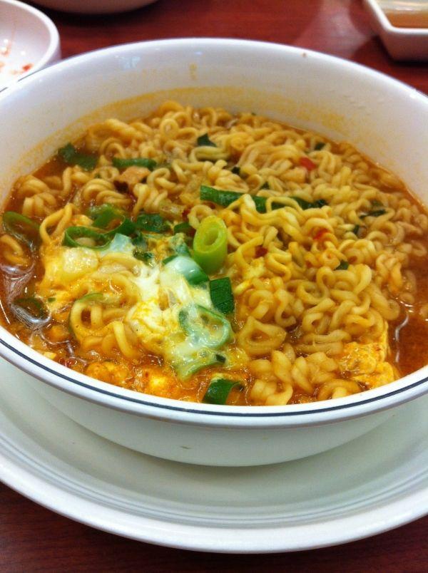 Korean Instant Noodle Snap Food Night Food Indomie Recipe