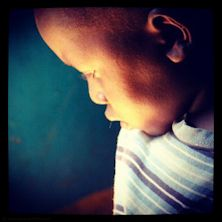 #Golden boy .. This sweet little boy couldn't hear, so he wasn't allowed in the class. He had to sit in the back, looking for the light. #NGO #kenia #travel #photography