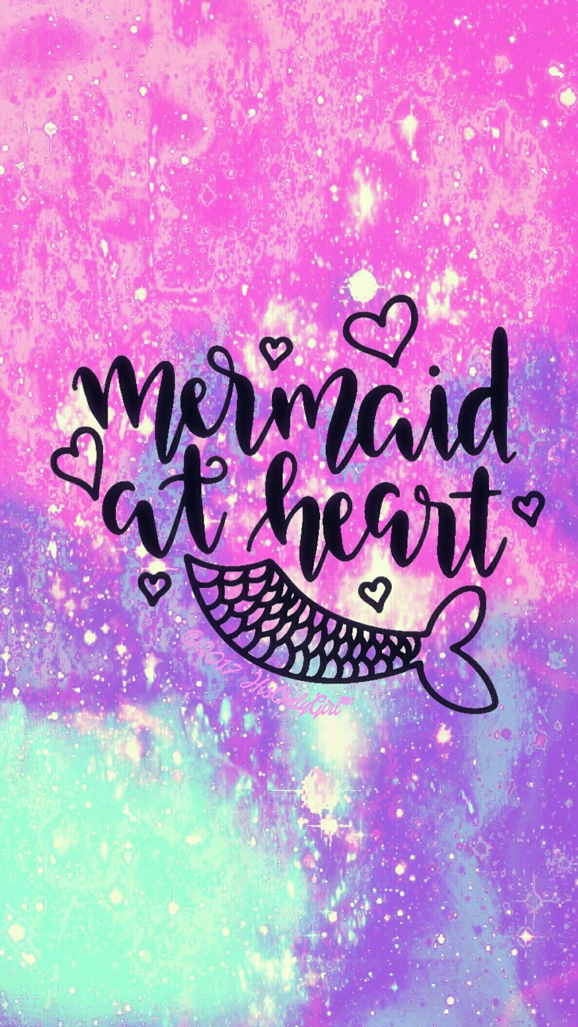 Mermaid galaxy wallpaper I created for the app CocoPPa ...