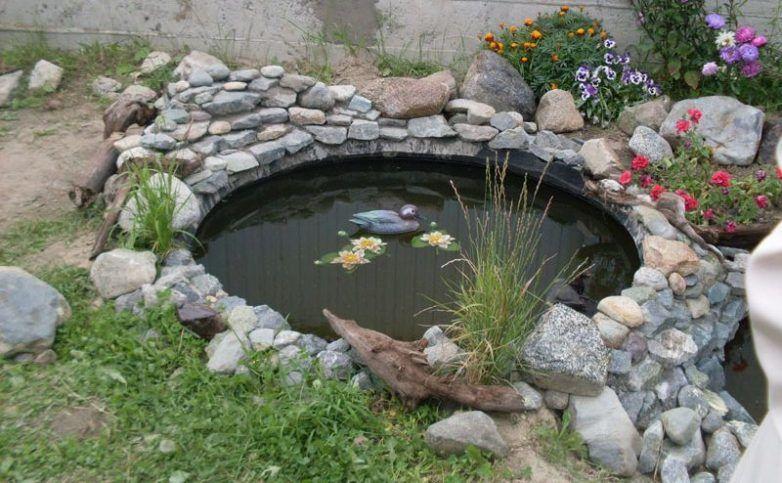 водоем для рыб из колеса