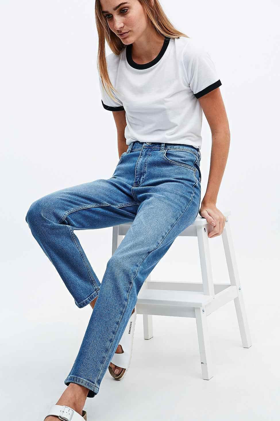 BDG - Jean girlfriend bleu clair - Urban Outfitters