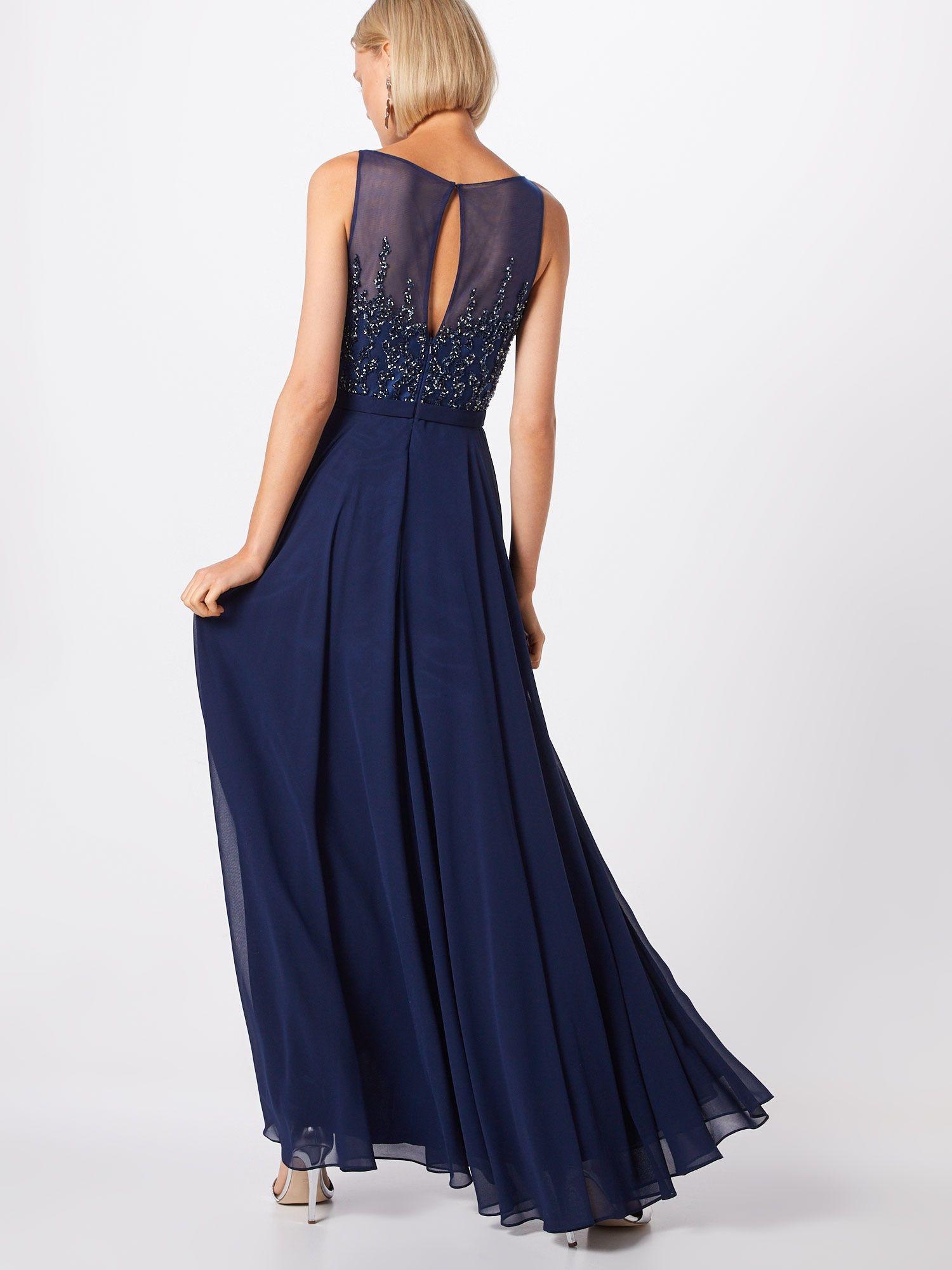Mascara Kleid Damen, Navy, Größe 17  Langes abendkleid, Formelle
