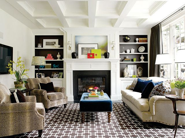 Paint The Insets Of The Built Ins With A Contrasting Color That