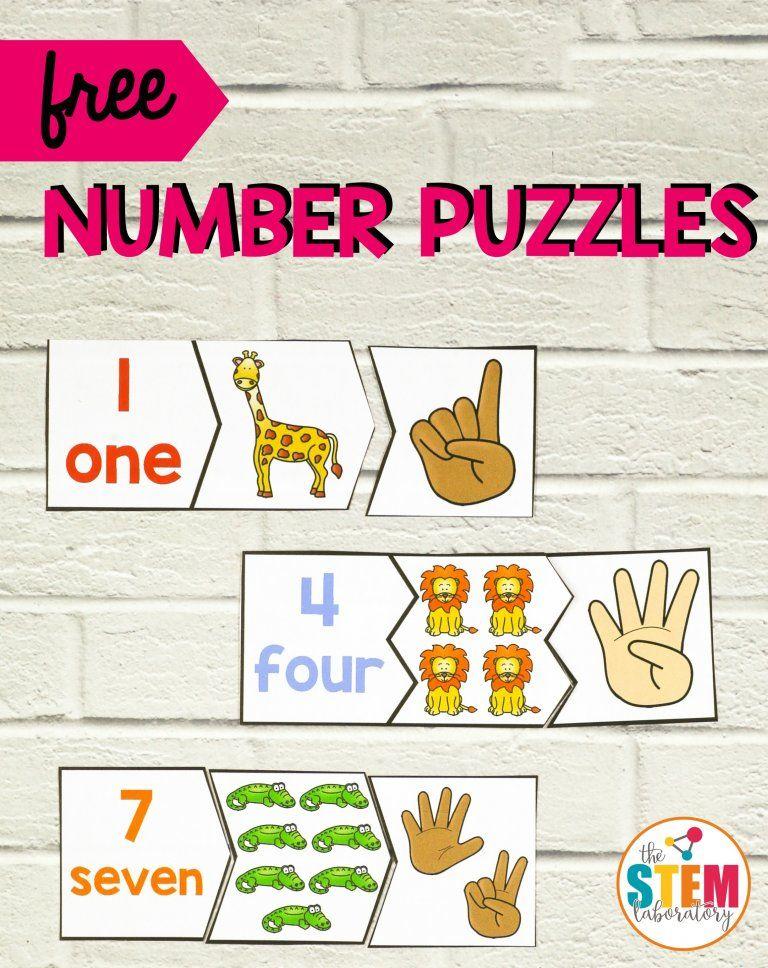 Zoo Number Puzzles Numbers preschool, Zoo preschool