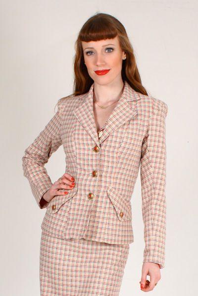 Tara Starlet 1940s 40s Style: Tara Starlet Love Army Jacket 40s/50s Office Blazer
