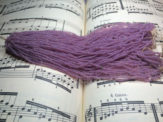Greasy cotton candy pink  purple vintage by Frenchsteelbeadshop