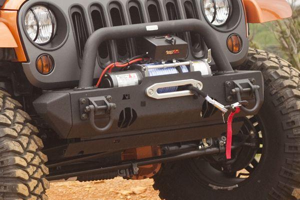 Stub Ends Xhd Front Bumper Textured Black Wrangler, Unlimited, Sahara  [11540.23] :