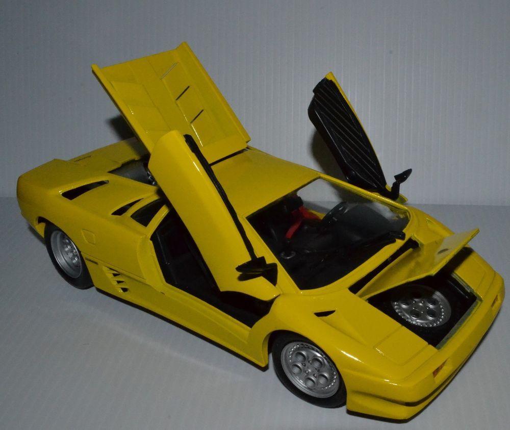 Diecast Maisto Rare Yellow Lamborghini Countach 1 18 Scale Maisto Lamborghini Lamborghini Countach Lamborghini Diablo Lamborghini