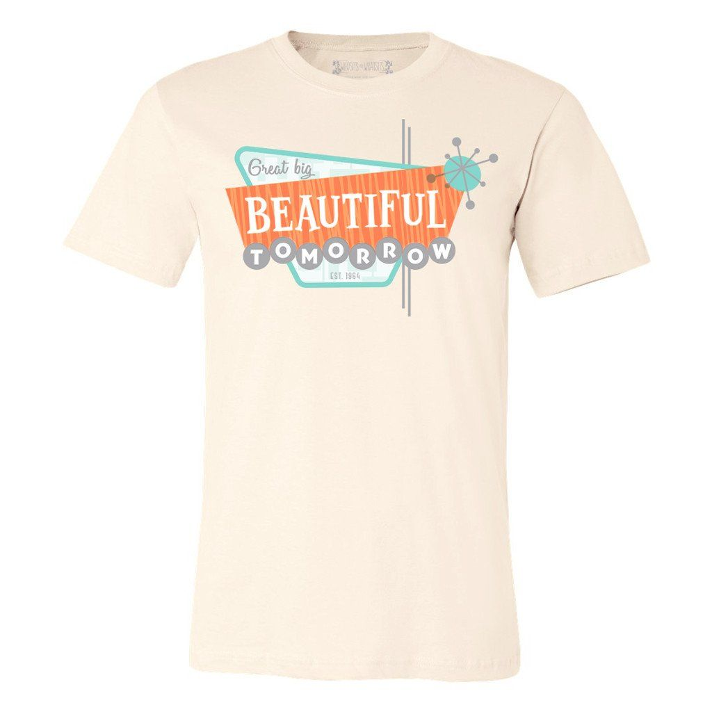 Beautiful Tomorrow Tee In 2020 Disney Inspired Fashion Tees Disney Bound Outfits