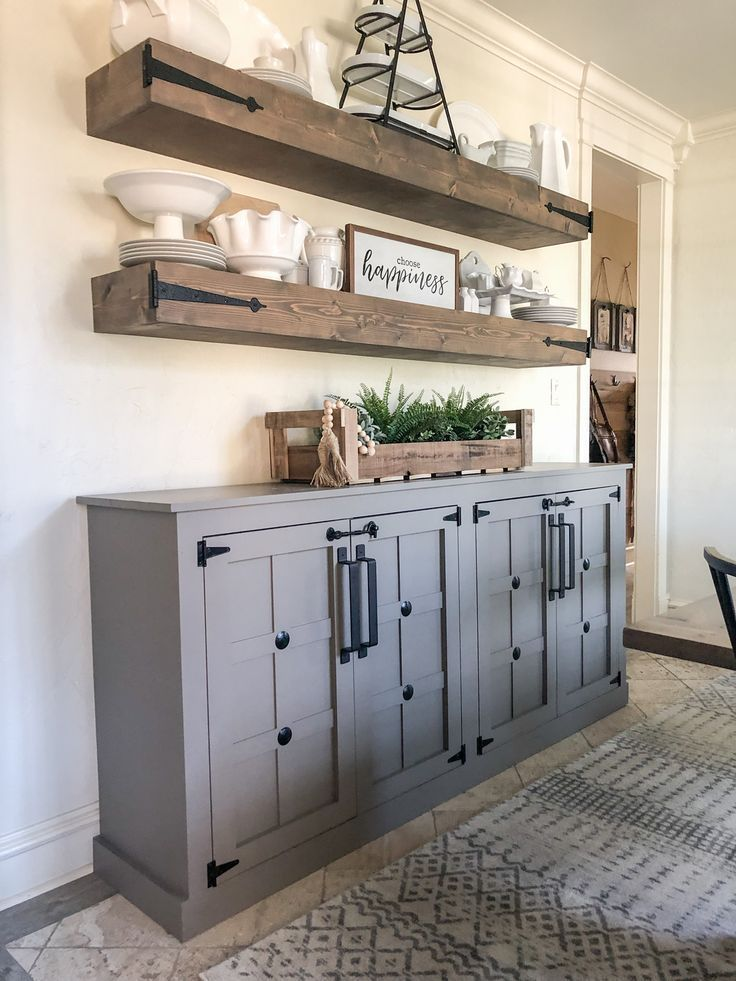DIY Modern Farmhouse Cabinet - Shanty 2 Chic