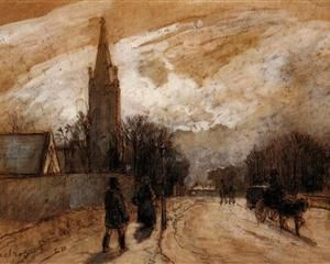 Study for 'All Saints' Church, Upper Norwood'