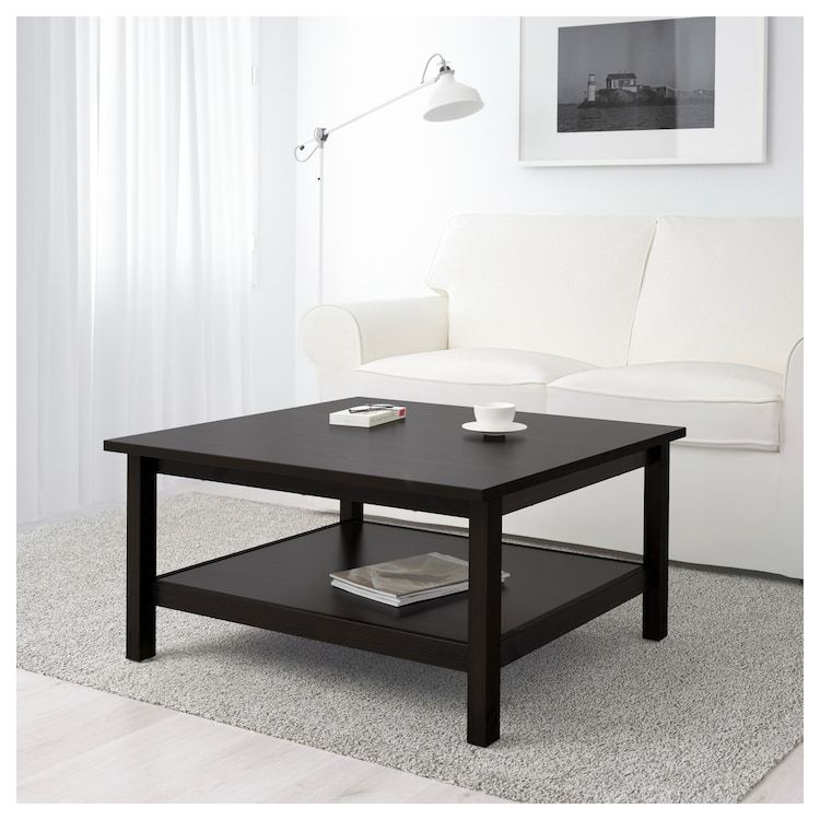 IKEA HEMNES BlackBrown Coffee table Black square coffee