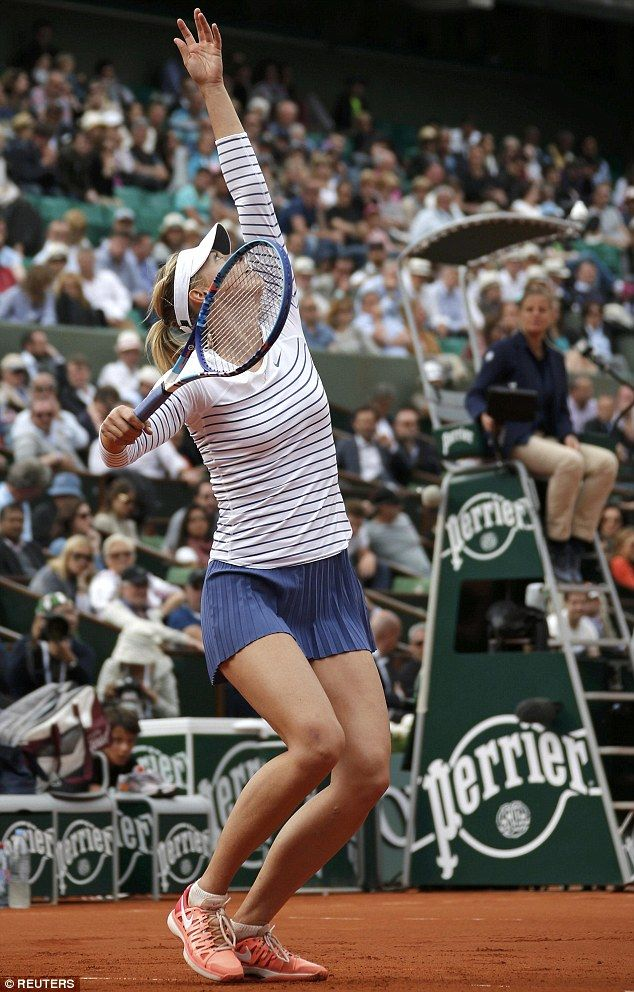 Tiny Puts At Leggy Maria Display The Skirt French Sharapova In On YBBw5q8