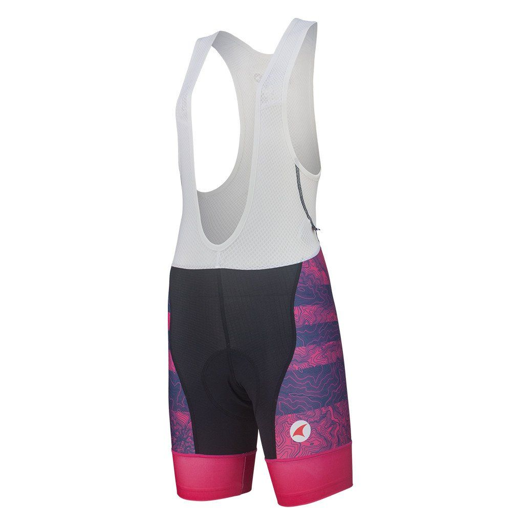 cecb78f81 Warm Weather Cycling Bibs Women s - Topo Bands Design - Pactimo