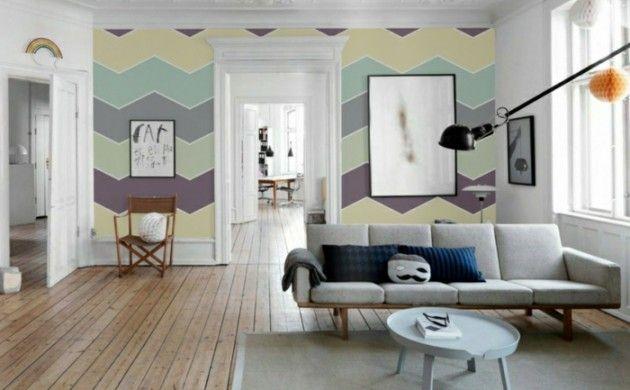 beste wandfarbe aussuchen wandfarben wohnzimmer chevron muster