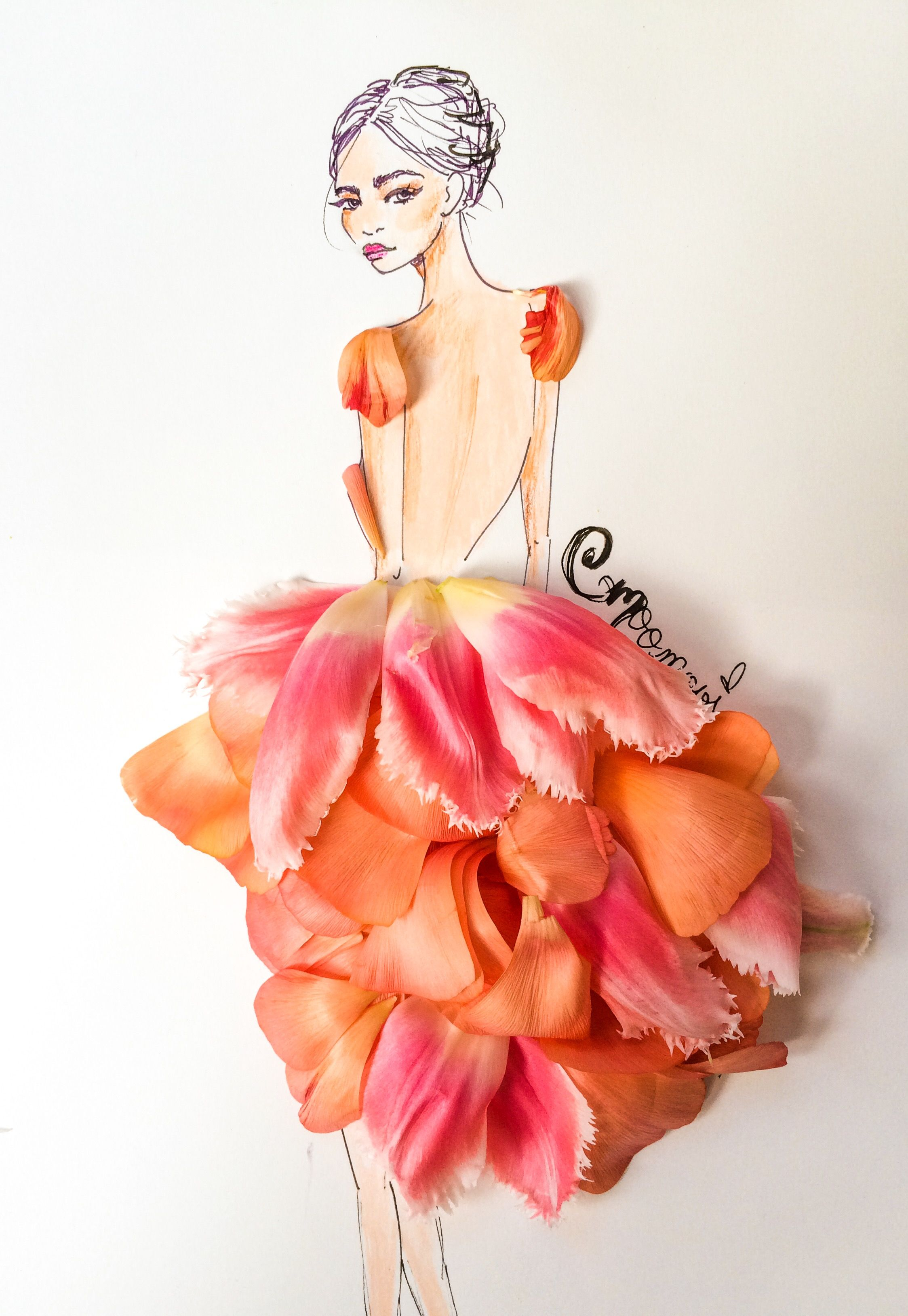 Floral Fashion Illustration Fashion Meets Nature Pinterest Floral Fashion Fashion