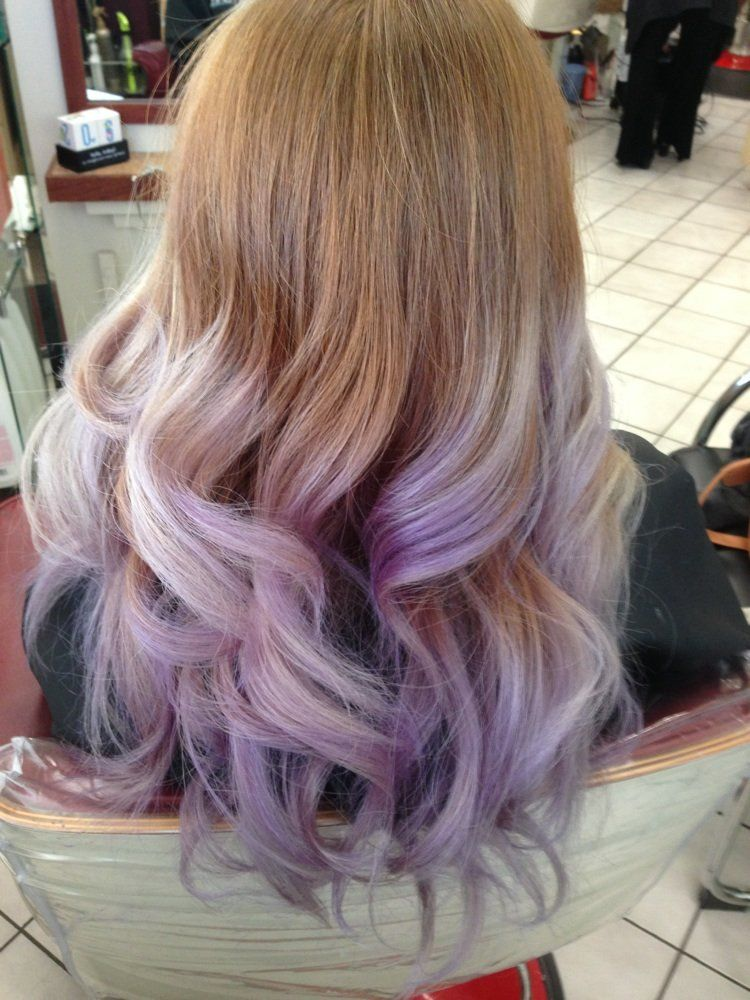 Lavender Ombr 233 Yelp Hairables In 2019 Dip Dye Hair