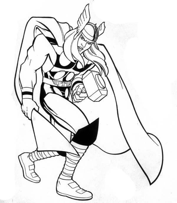 Thor Marvel Hero Coloring Pages | DIY 및 수공예품 | Pinterest | Witches