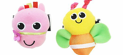 Sassy Wrist Rattles Pack Of 2 These Cute Wrist Rattles Styled As A Horse And Butterfly In Vibrant Colours Are Sure To E Baby Toys Rattles Baby Shop