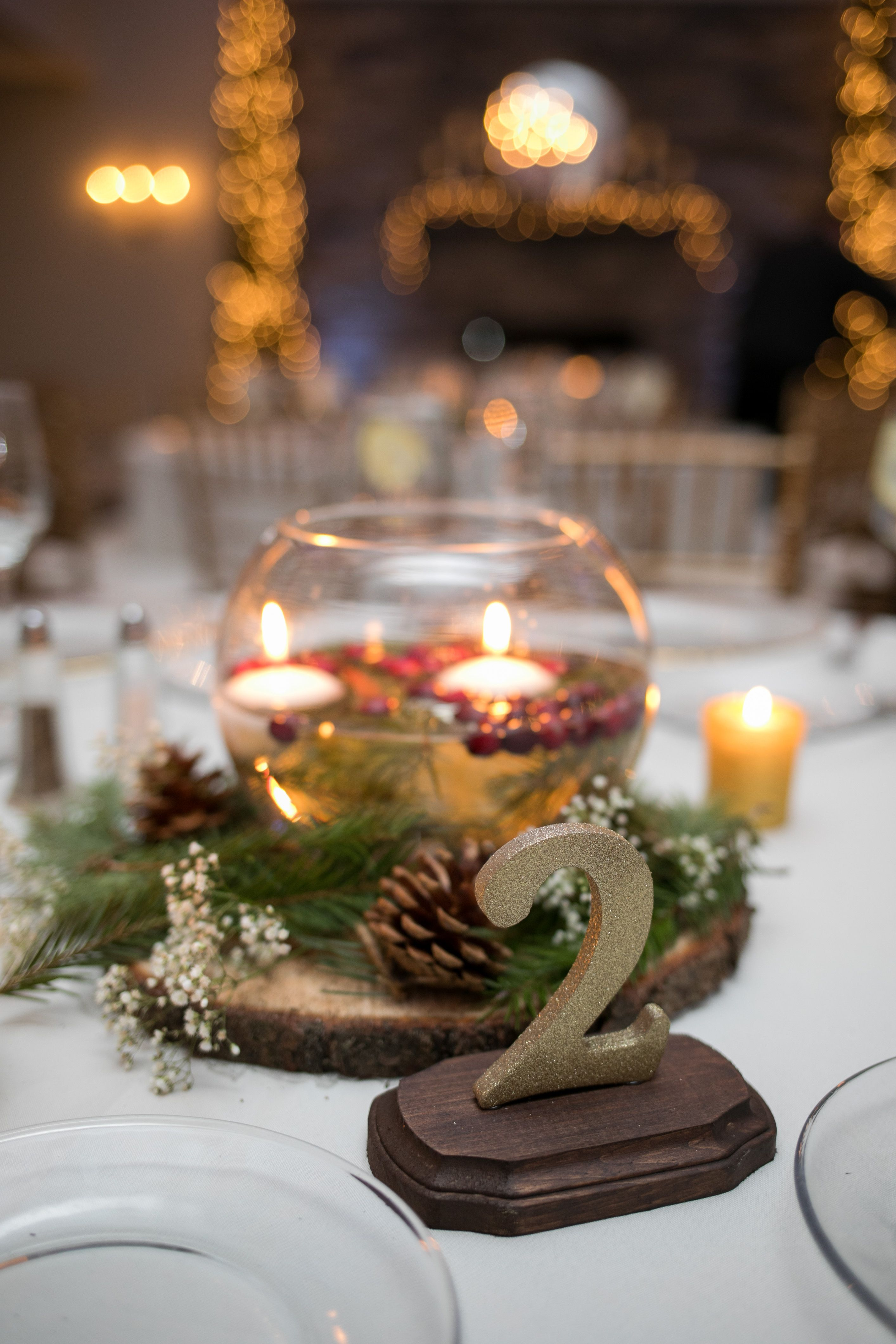 Gold Glitter Table Numbers Winter Wedding Centerpieces Floating Candles Winter Centerpieces Floating Candle Centerpieces Floating Candle Centerpieces Wedding