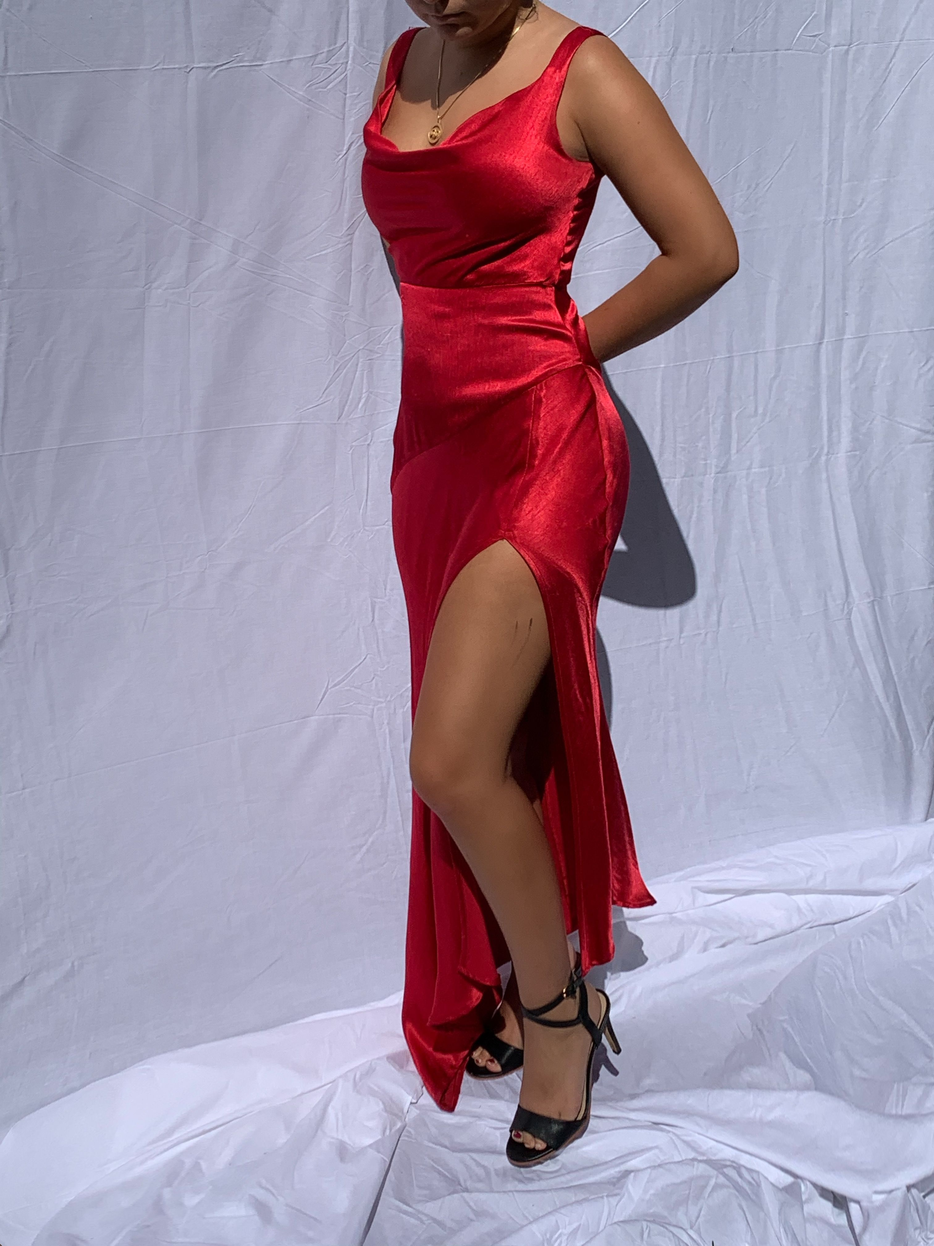 Buffy Vintage 90s Formal Dress Prom 2000s Y2k Red Silk Dress Silk Dress 90s Formal Dress Formal Dresses Formal Dresses Prom [ 4032 x 3024 Pixel ]