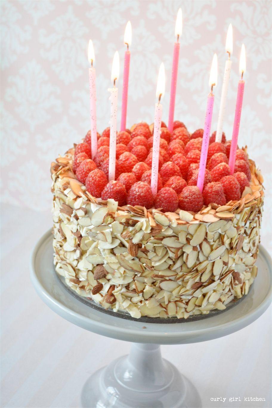 Almond Raspberry Birthday Cake For The Love Of Cake Pinterest
