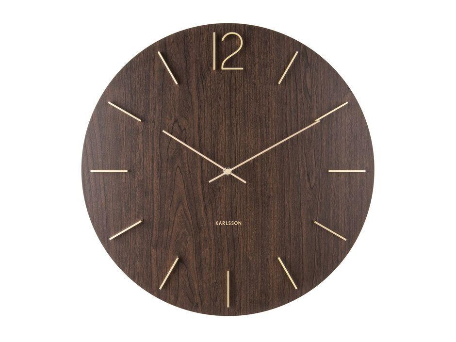 Karlsson Wall Clock Meek Mdf On Checkfrank Co Uk In 2020 Wall Clock Modern Wood Wall Clock Wall Clock Design