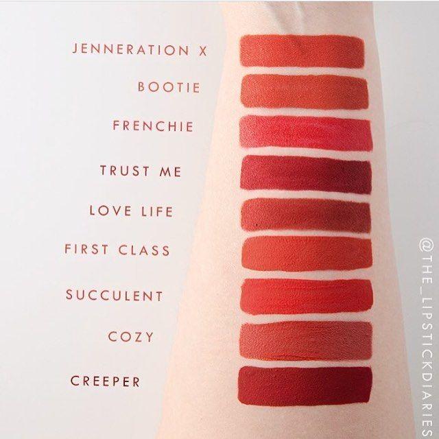 Reds..and more reds! Thanks for the comparisons @the_lipstickdiaries  #colourpopcosmetics #colourpop #colourpopfun #lippiestix #ultramattelip #mattex