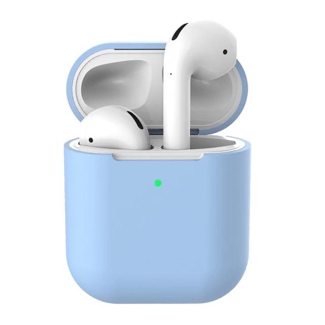 Light Blue Super Thin Airpods 2 Case Apple Airpods 2 Earphone Case Case