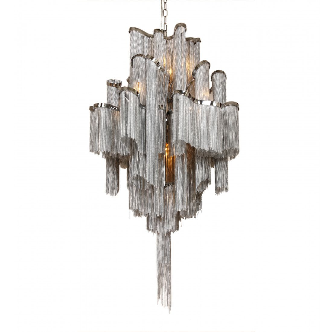 Clear glass modern murano chandelier l16k white lamp shades - Modern Reproduction Stream Suspension Light Chain Chandelier Inspired By Christian Lava
