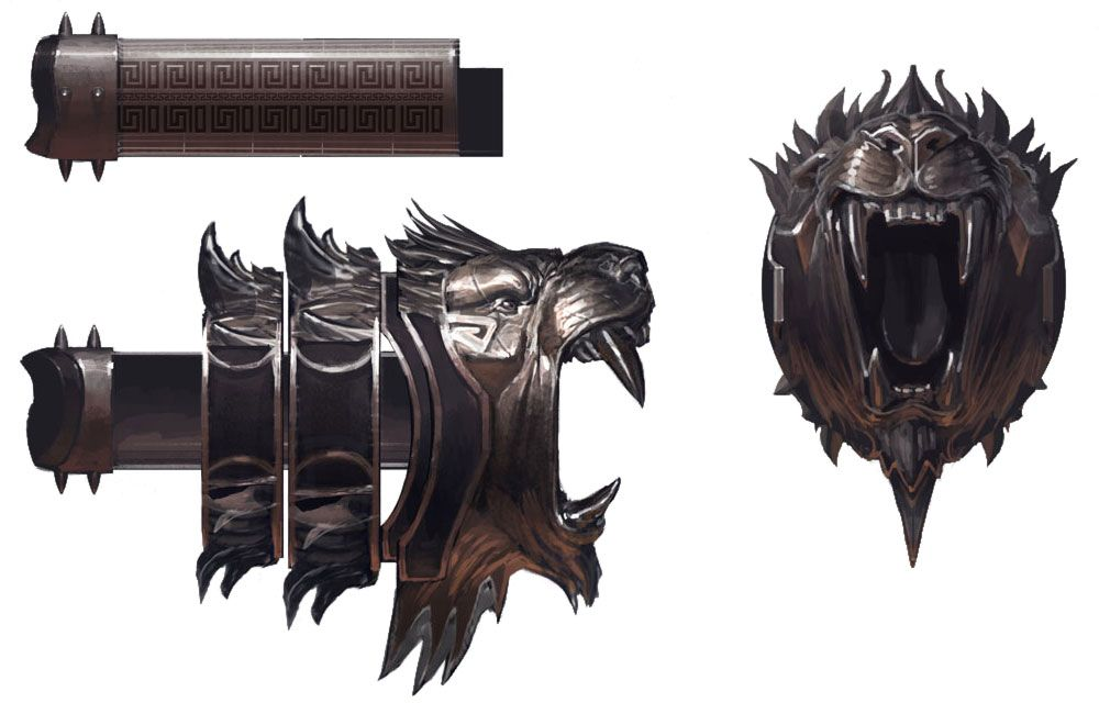 God Of War Iii Nemean Cestus Espadas Desenho Kratos Desenho